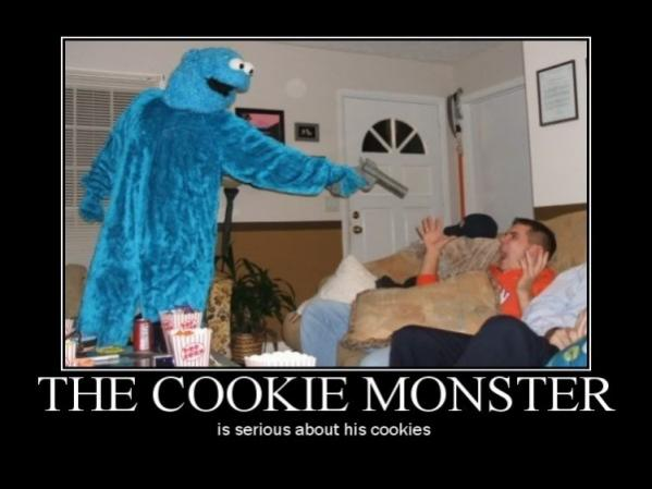 Demotivational poster about cookies.
