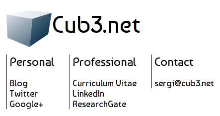 Cub3.net new Home page screenshot